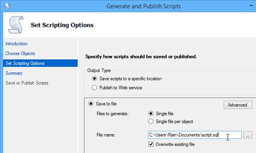 05 specify output path