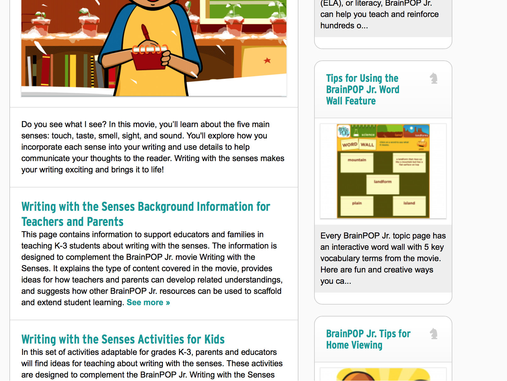 Brainpop Jr Reading Amp Writing Educator Review