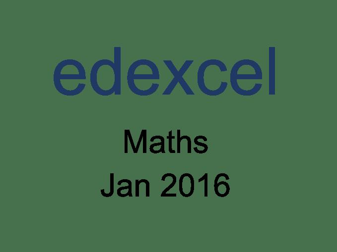 Edexcel IGCSE Maths Jan 2016 Model Answers by IGCSE