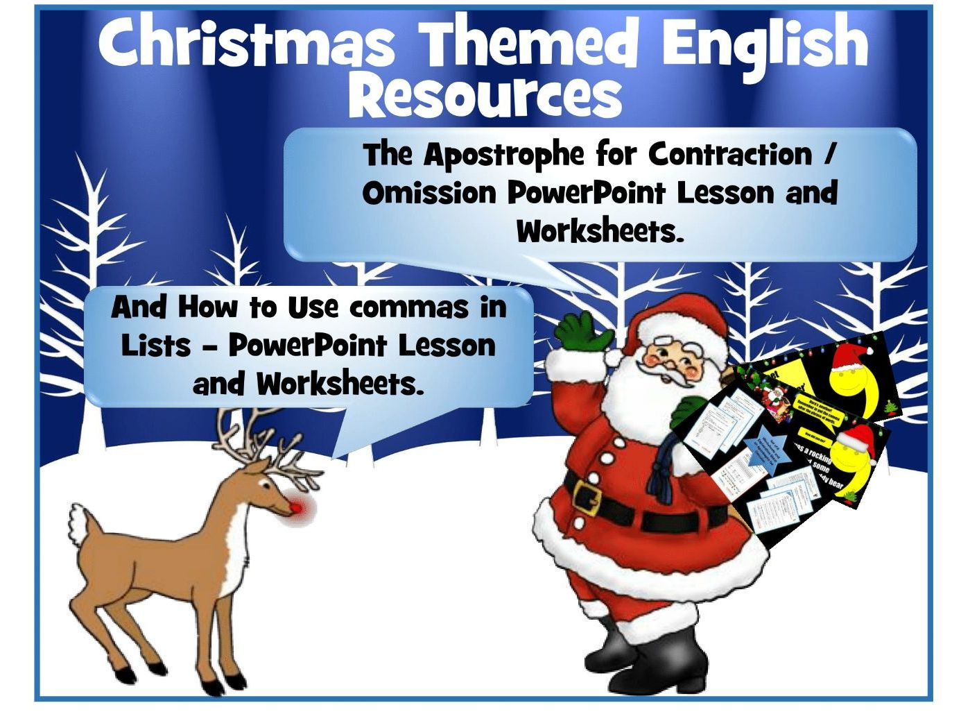 Christmas English Resources By Krazikas