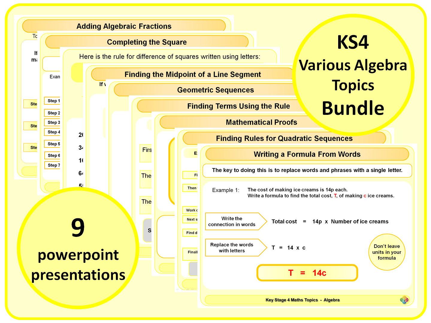 Ks4 Various Algebra Topics By Magictrickster