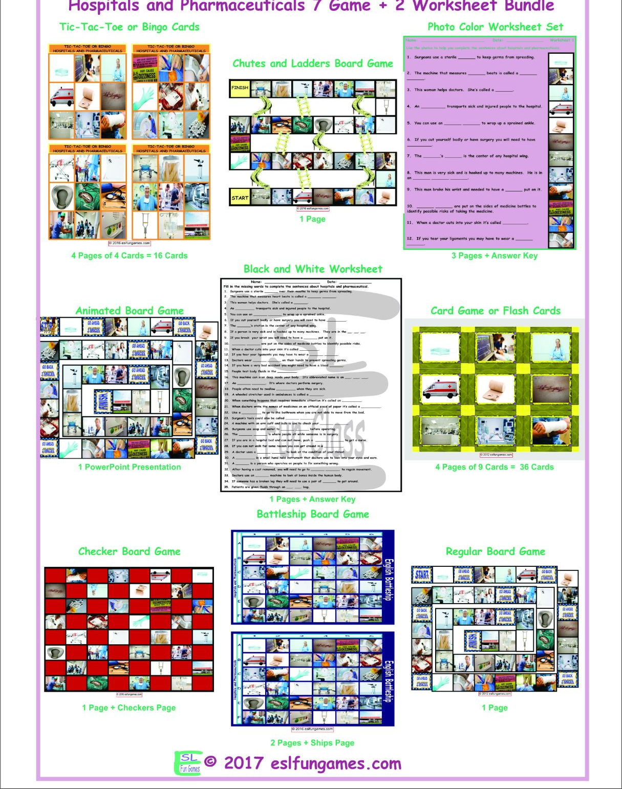 Hospitals And Pharmaceuticals 7 Game Plus 2 Worksheet