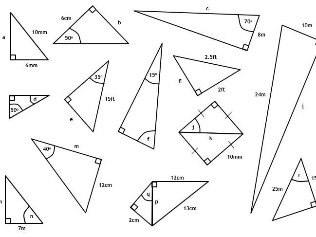 Pythagoras and Right-Angled Trigonometry Practice