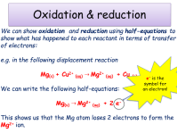 KS4, Chemical changes - oxidation & reduction (teacher ...