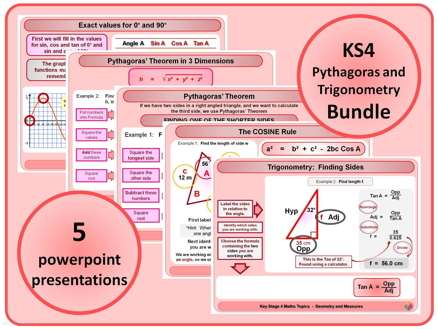Ks4 Pythagoras And Trigonometry Bundle