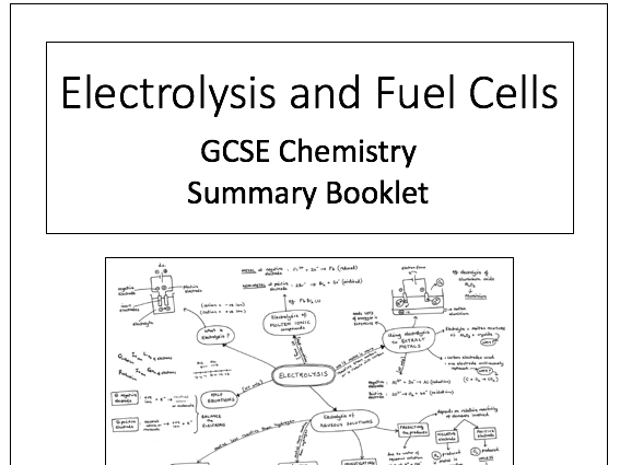 Electrolysis and Fuel Cells resources for AQA GCSE