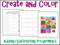 Adding And Subtracting Polynomials Coloring Worksheet ...