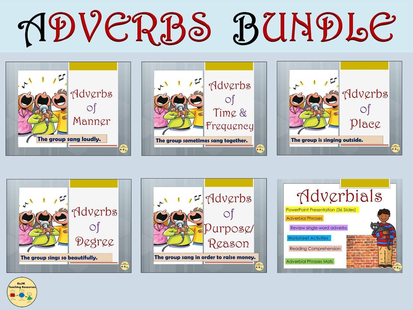 Adverbs And Adverbials Bundle Adverbs Of Manner Time