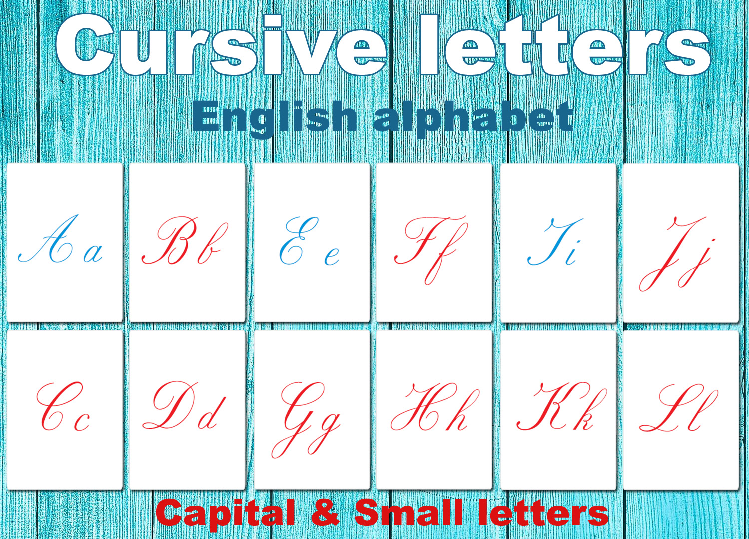 Cursive Letters Alphabet Uppercase And Lowercase Pict Art