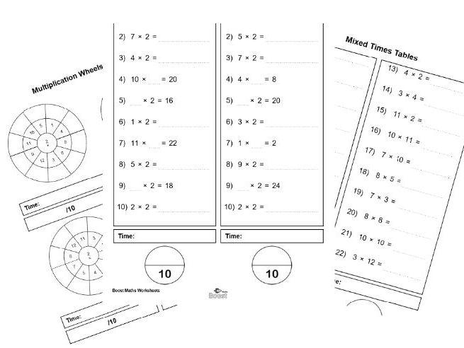Times Tables worksheets (2-12) BUNDLE (79 worksheets) by