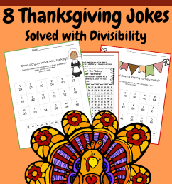 5th grade Math: Division and Divisibility: Thanksgiving Jokes   Teaching  Resources [ 1056 x 816 Pixel ]