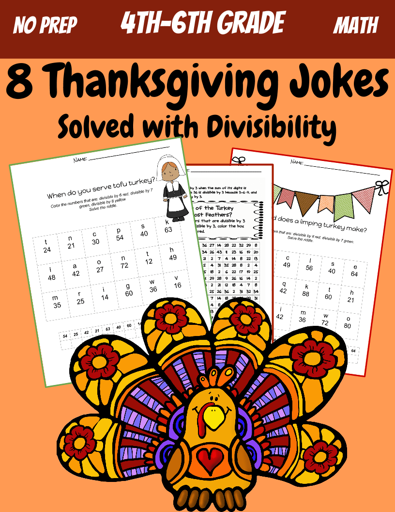 hight resolution of 5th grade Math: Division and Divisibility: Thanksgiving Jokes   Teaching  Resources