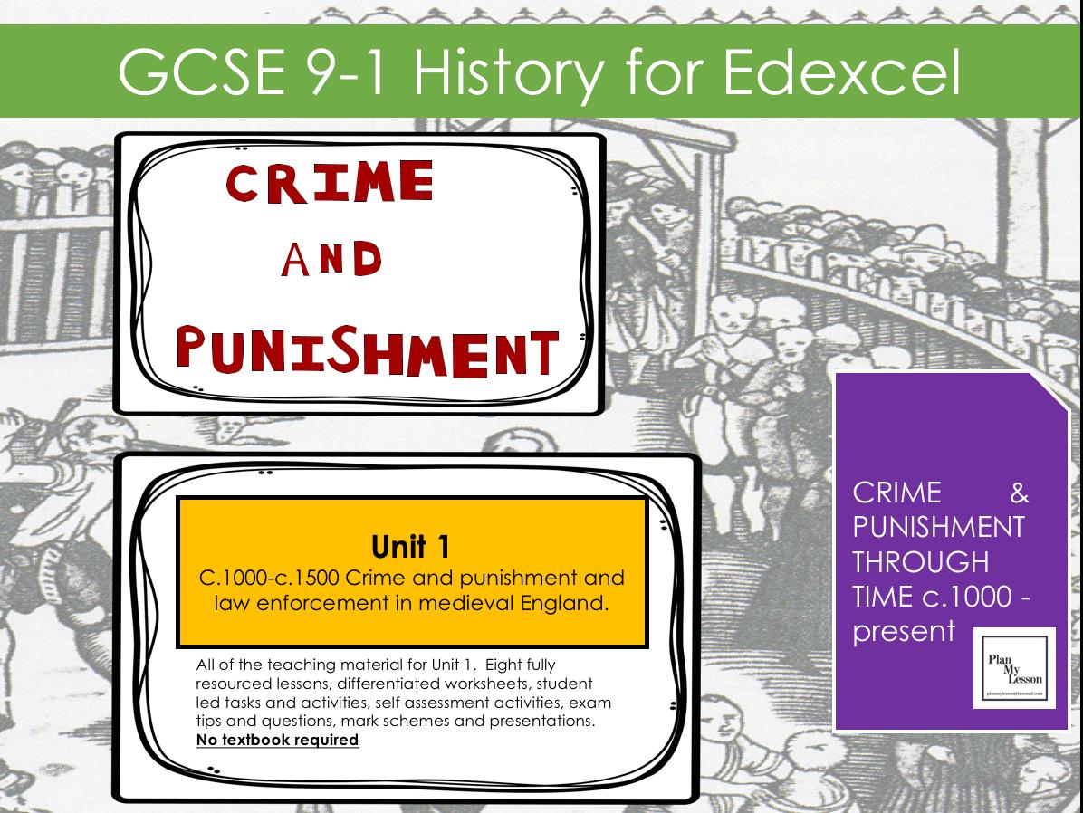 Edexcel Gcse 9 1 History Crime And Punishment C