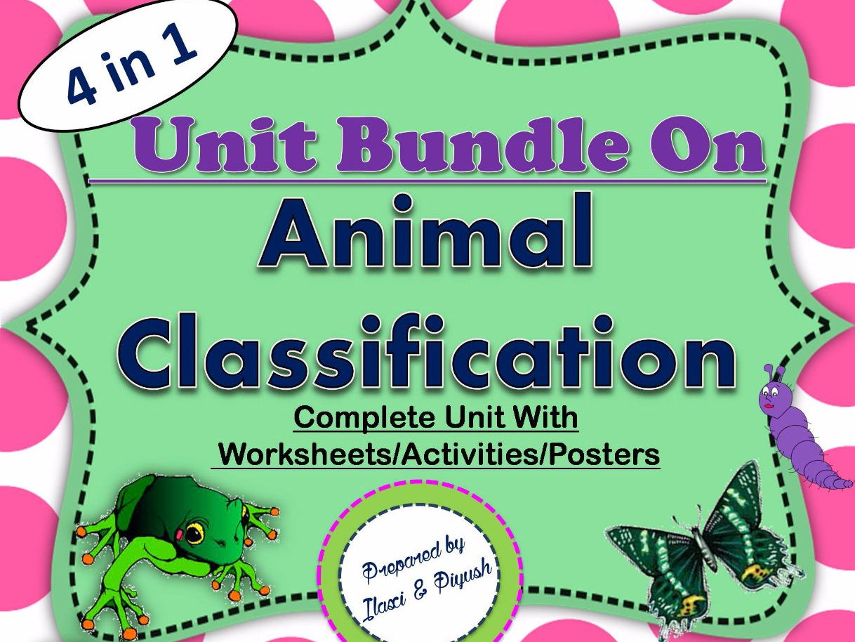 Bundle On Animal Classification With Worksheets Activities