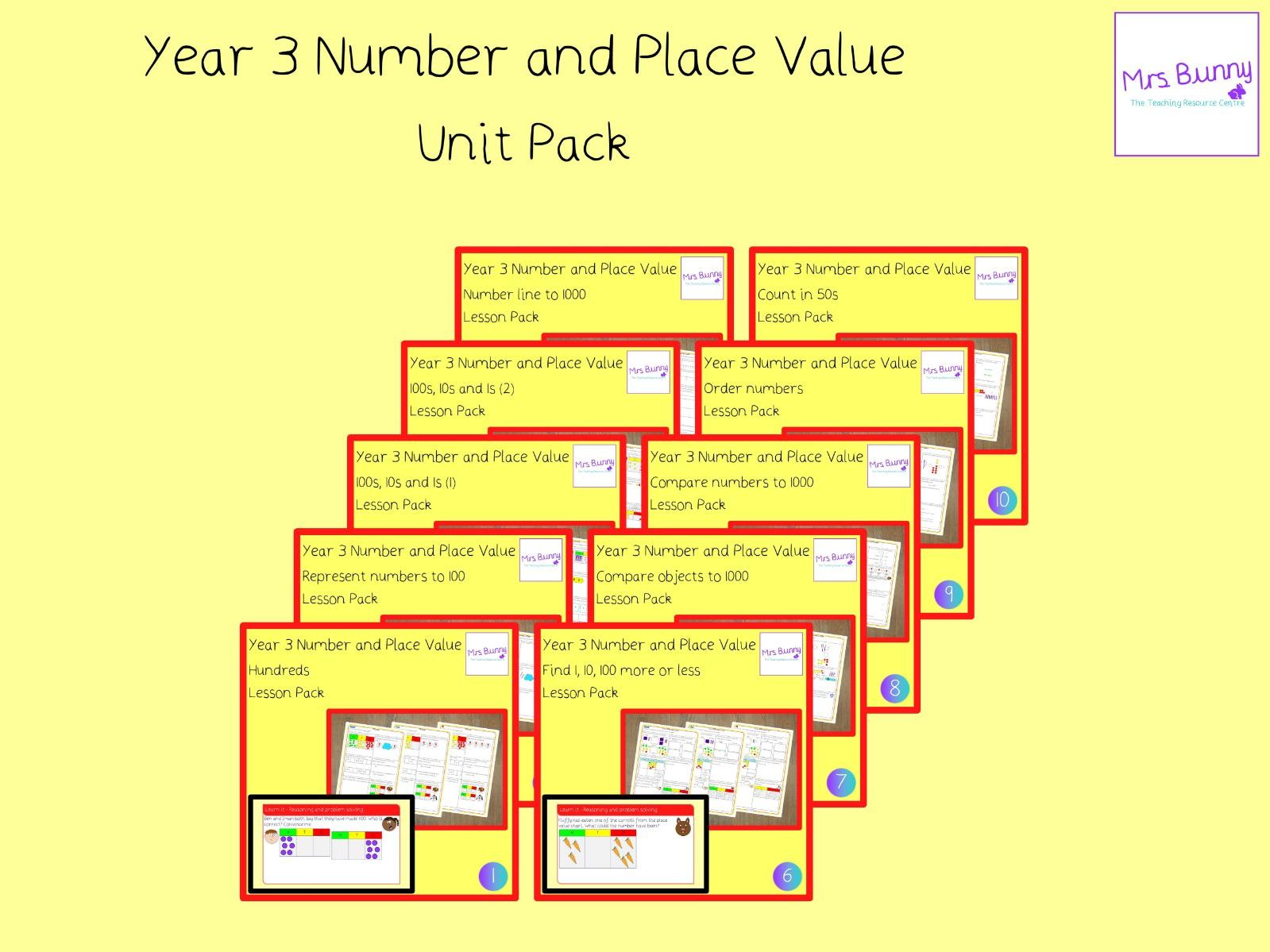 Year 3 Number And Place Value Unit Pack