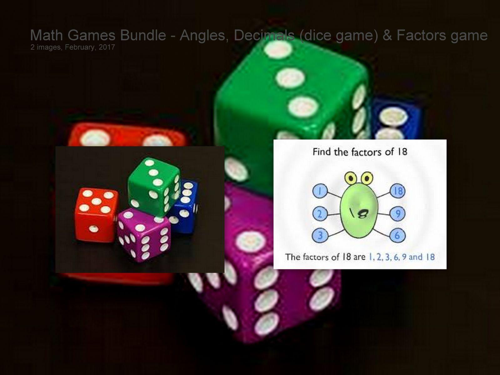 Factor Worksheet Math Games