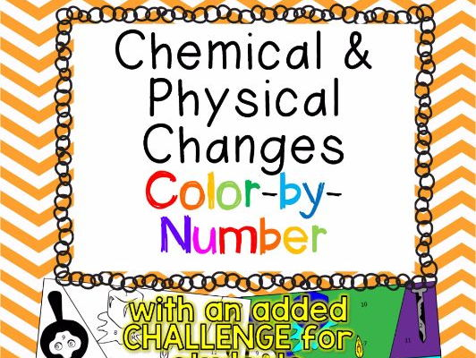 Chemical And Physical Changes Color By Number TEKS 65D