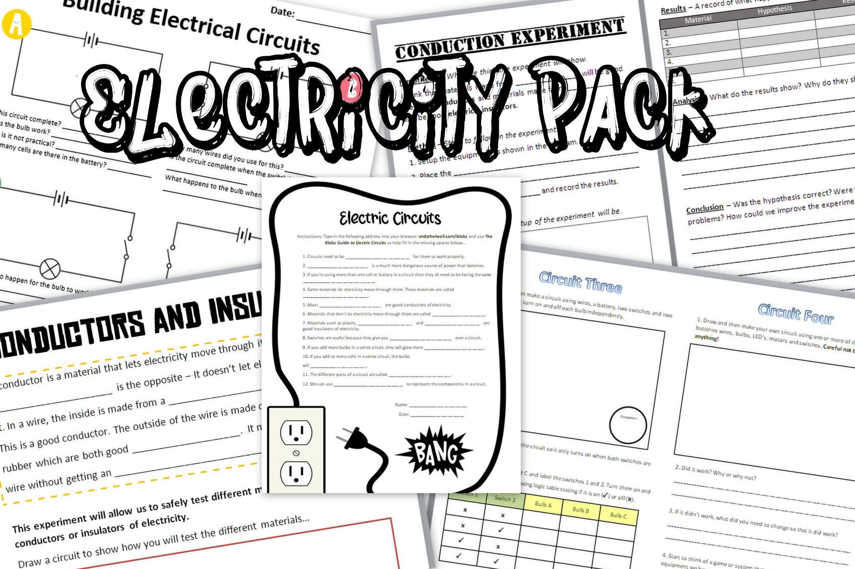 Electricity Worksheets: Primary Science Teaching Resources