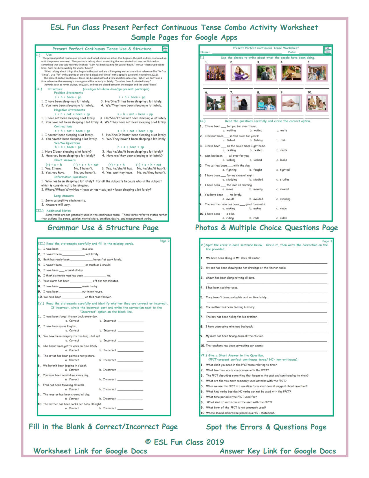 Esl Present Perfect Worksheet