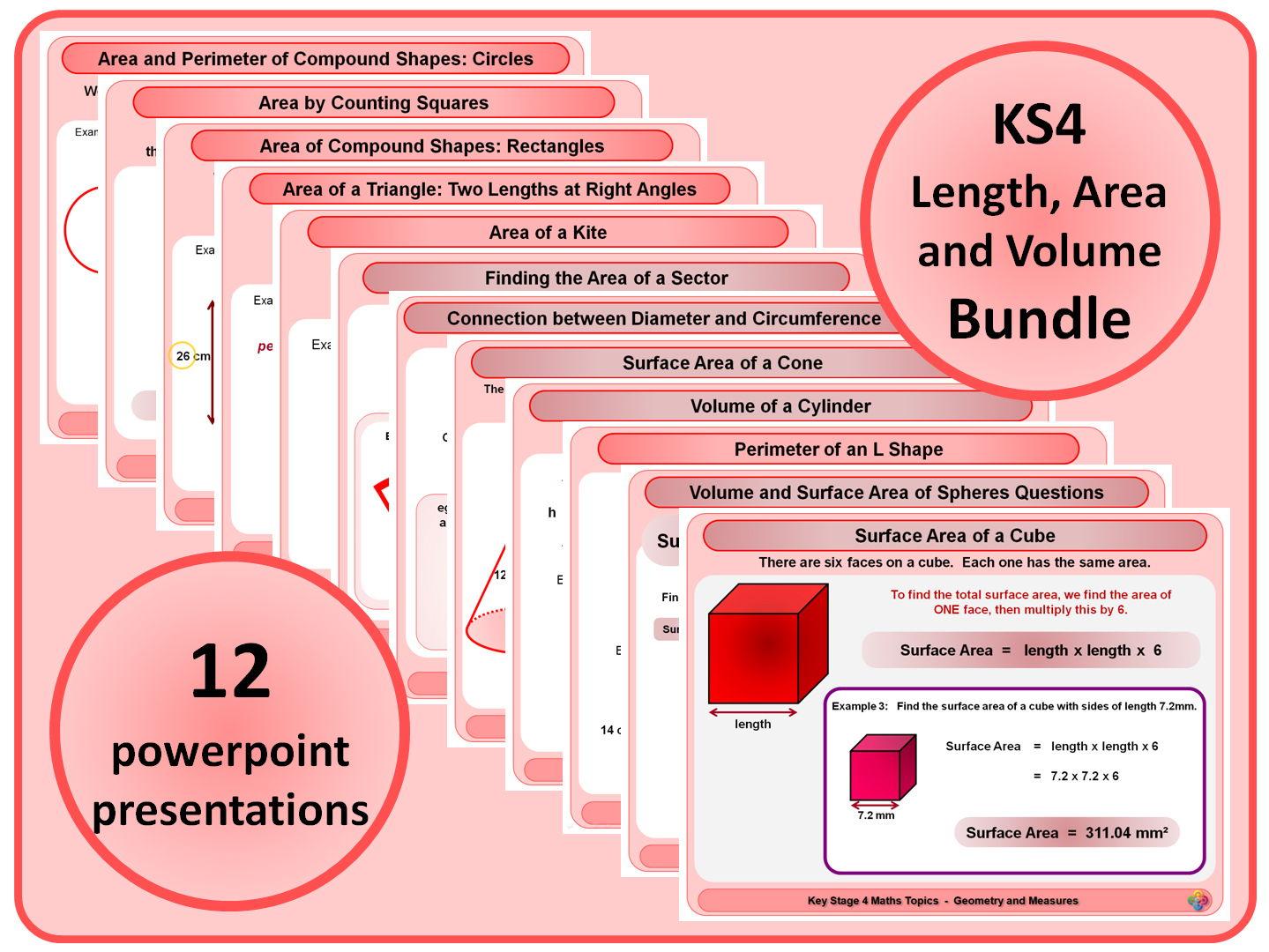 Ks4 Length Area And Volume Bundle