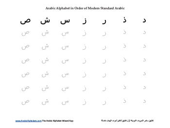 Arabic Alphabet Tracing Worksheets by logical08200