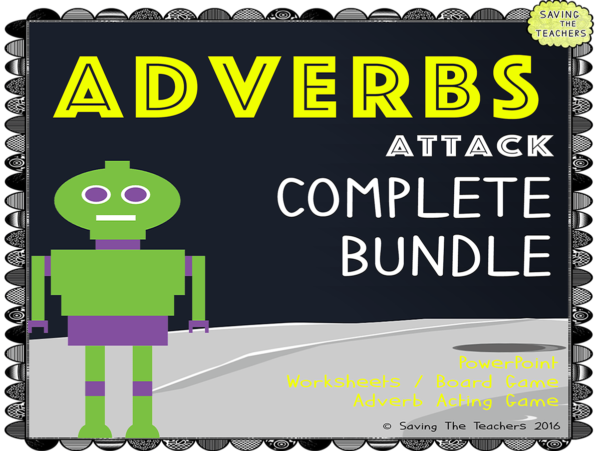 Adverb Worksheets Activities And Game Bundle