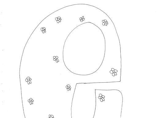 Letter 'e': Alphabet: Lower Case: Floral Pattern