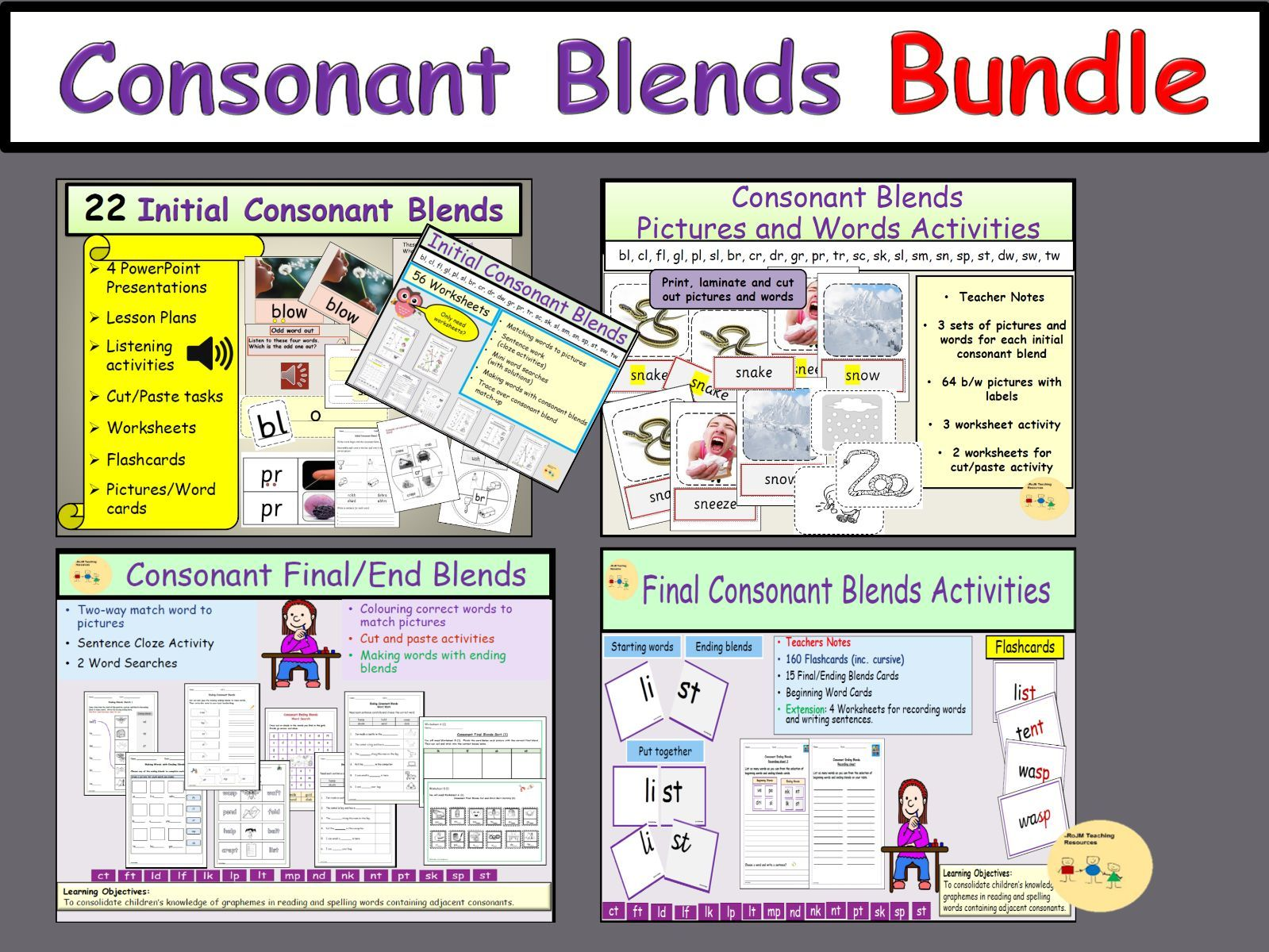 Consonant Blends Bundle