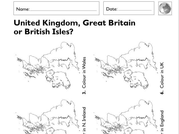 KS1 (Year 1 and 2) Geographical Worksheets (6 sheets