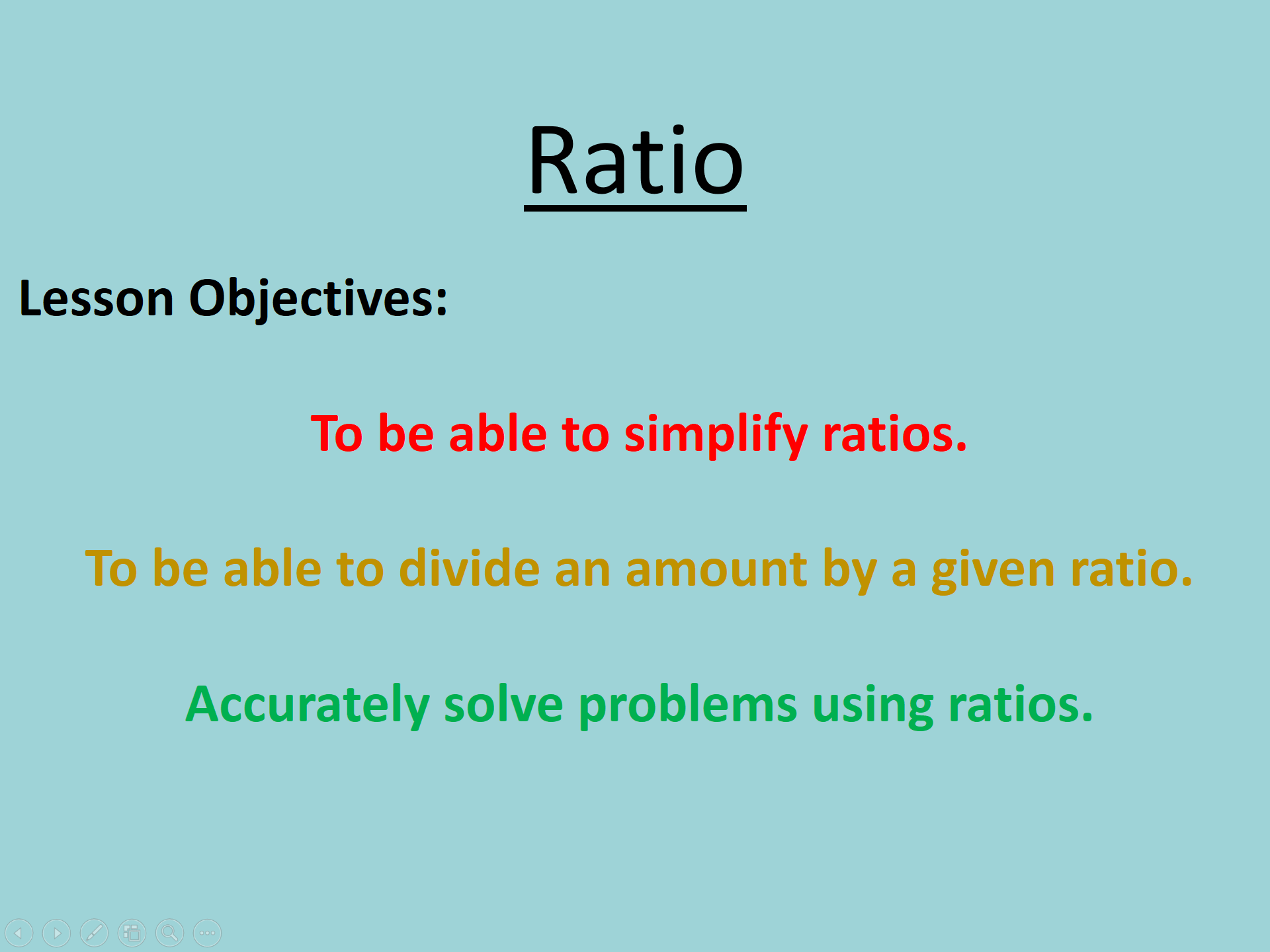 Secondary Number Teaching Resources Ratio And Proportion