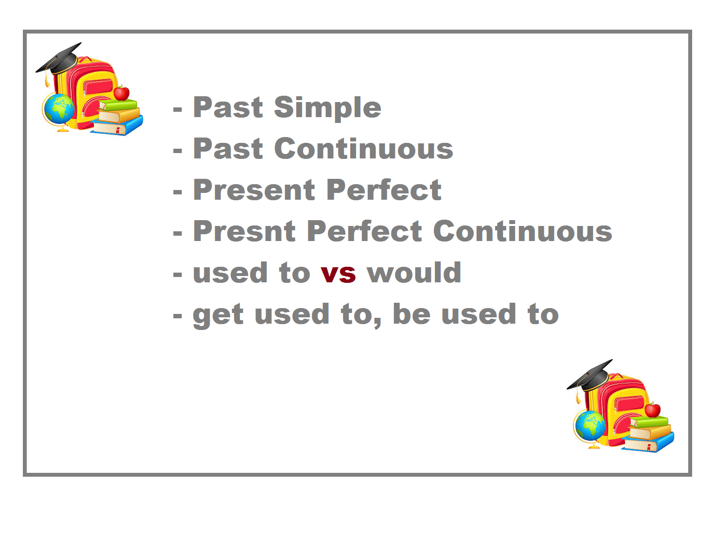 Present Perfect Tense Keywords