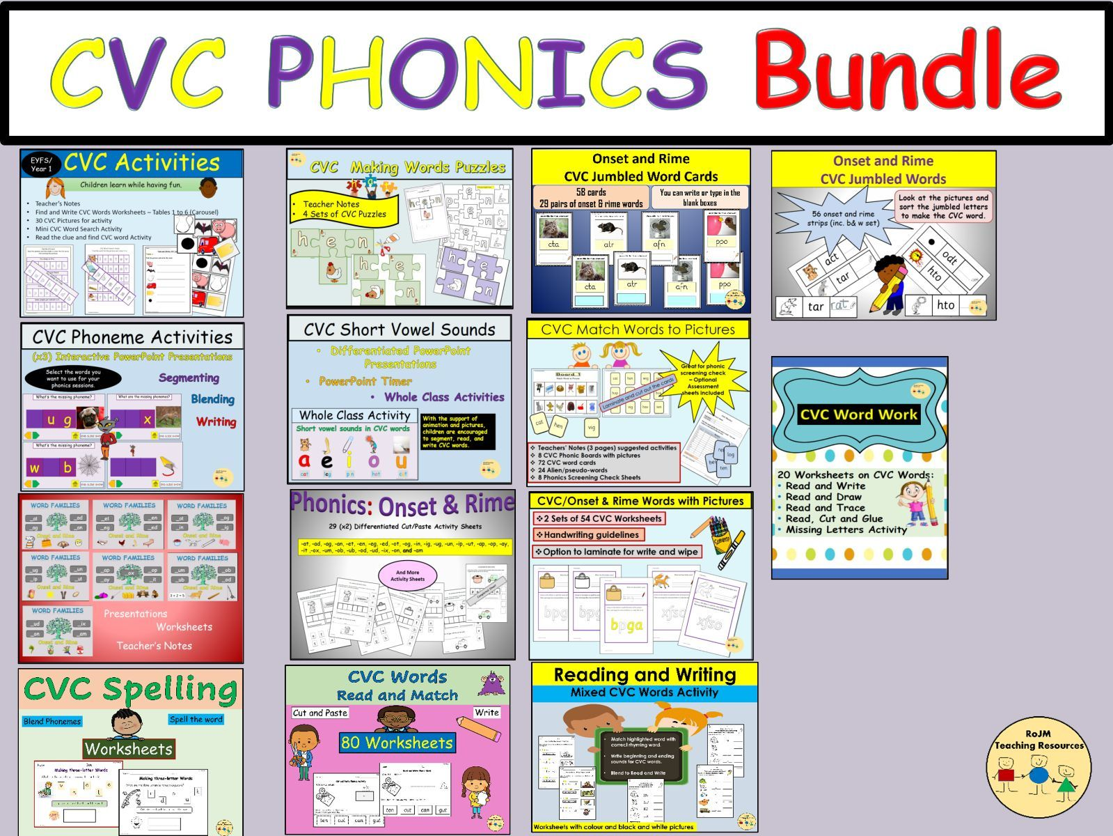 Cvc Words Onset And Rime Phonics Spelling Worksheets
