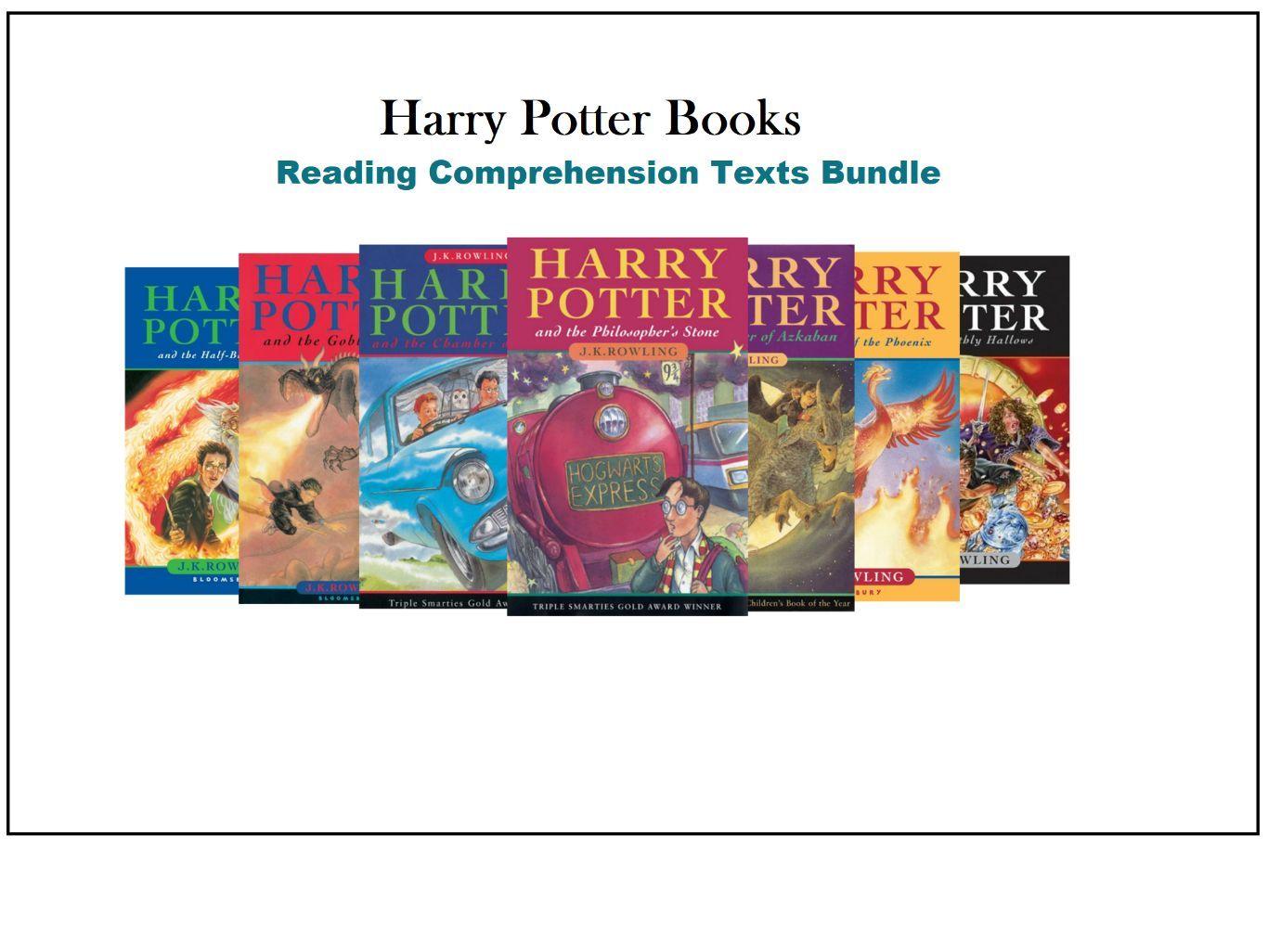 Harry Potter Reading Comprehension Texts Bundle Novel