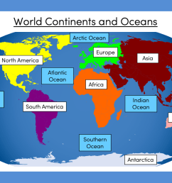 Continents and Oceans of the World - KS1 \u0026 KS2 - presentation and  differentiated activity   Teaching Resources [ 877 x 1359 Pixel ]