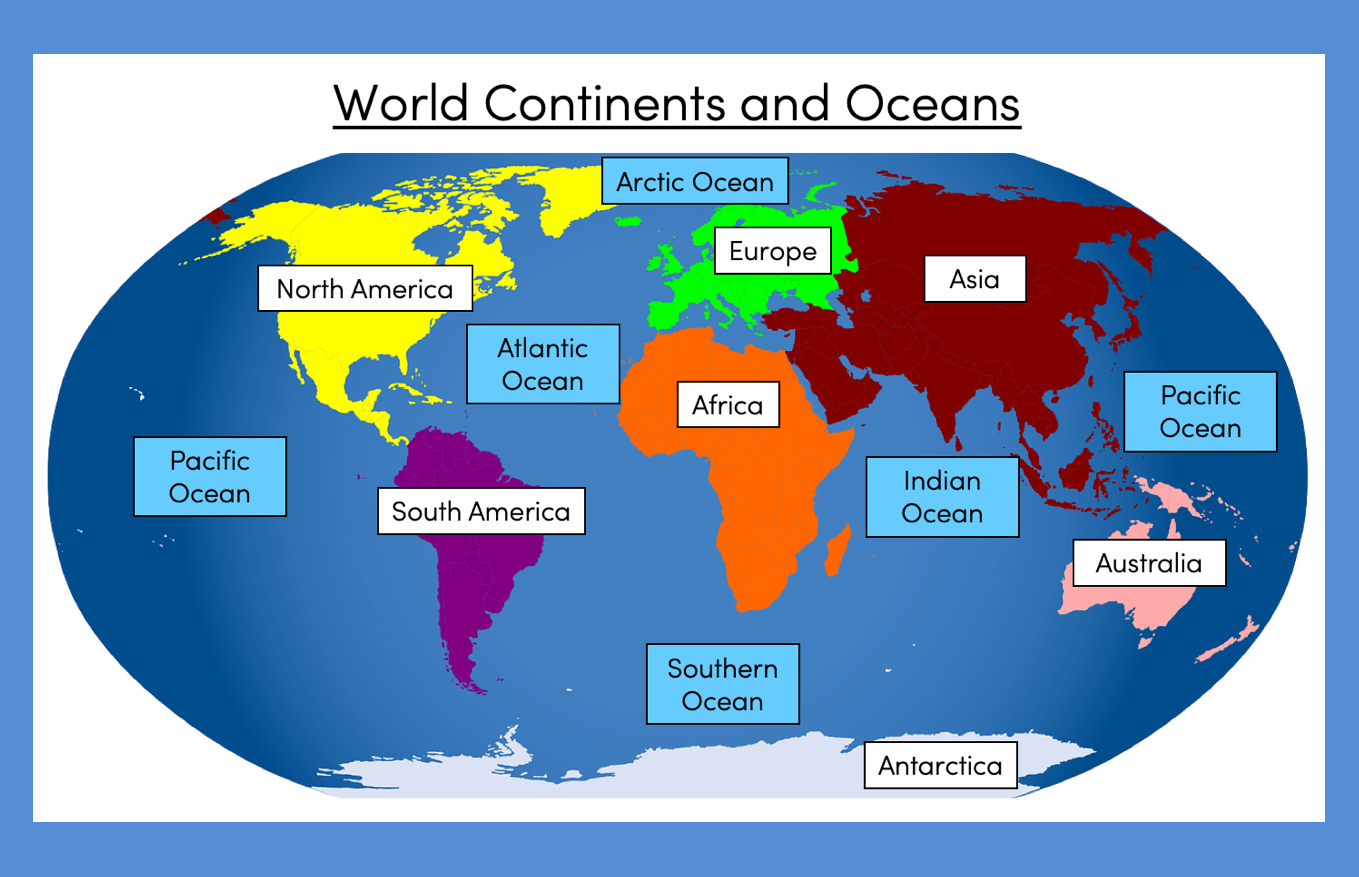 hight resolution of Continents and Oceans of the World - KS1 \u0026 KS2 - presentation and  differentiated activity   Teaching Resources
