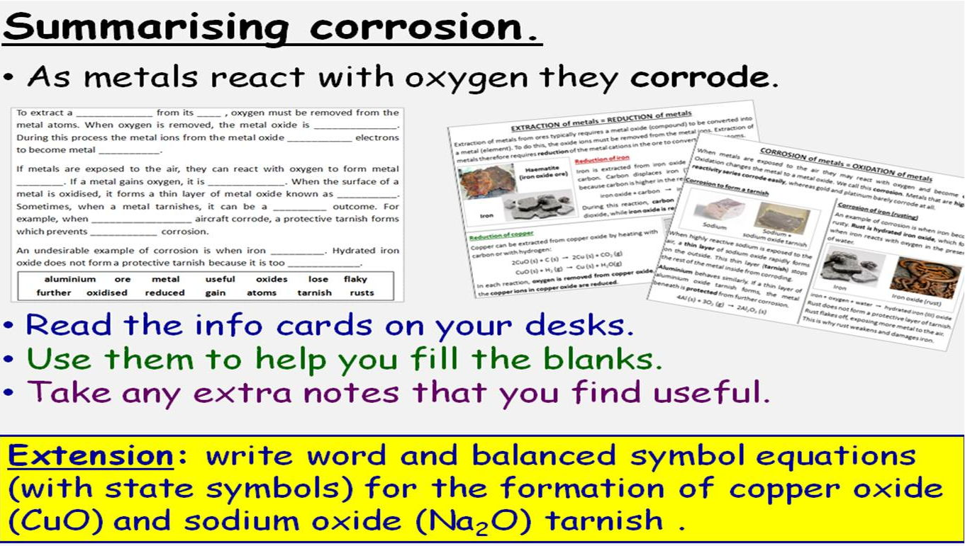 Transition Metals Alloys And Corrosion 4 Gcse Lessons Edexcel 9 1 Topic Sc13 Triple Only By