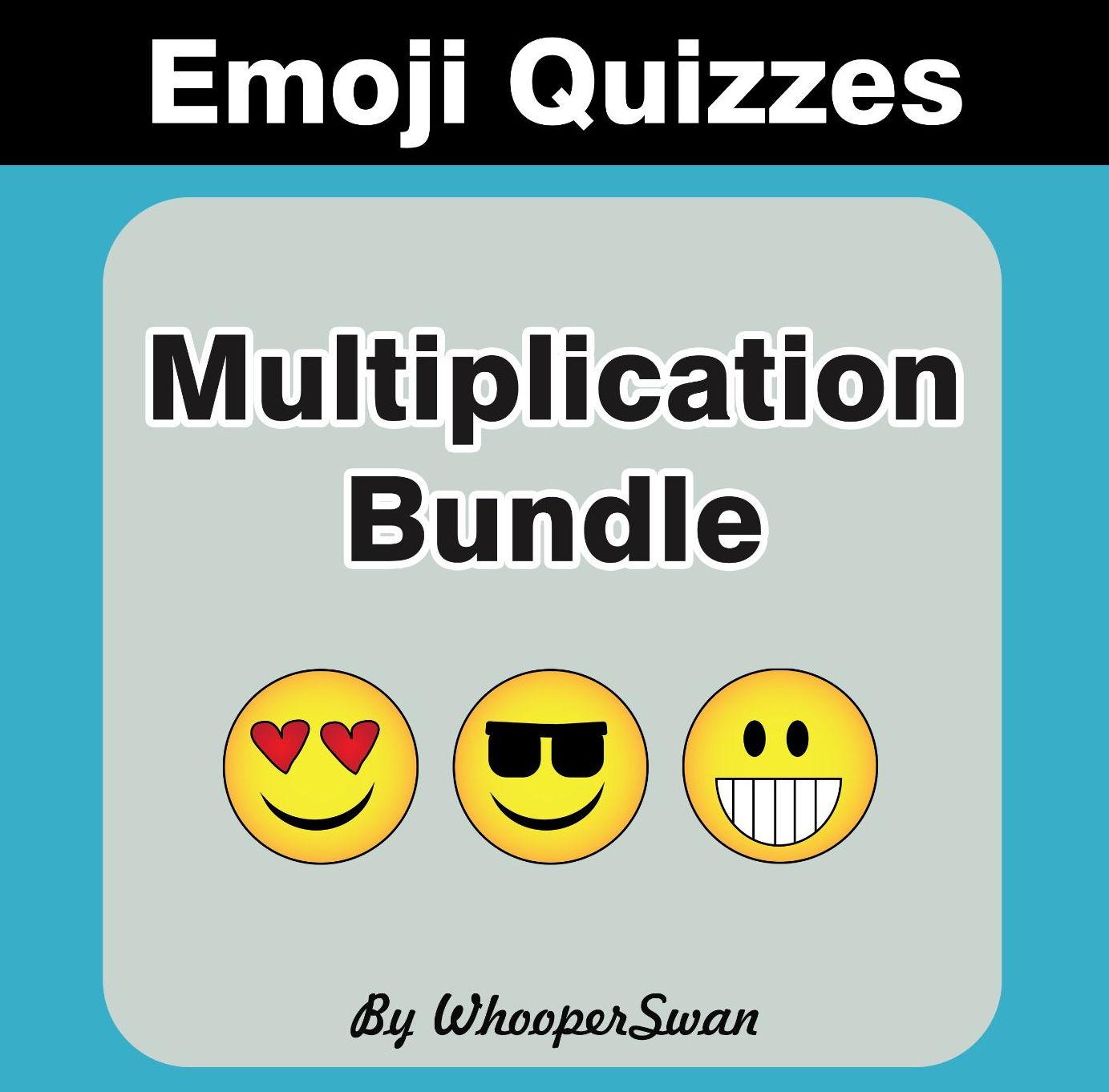 Multiplication Emoji Quiz Bundle