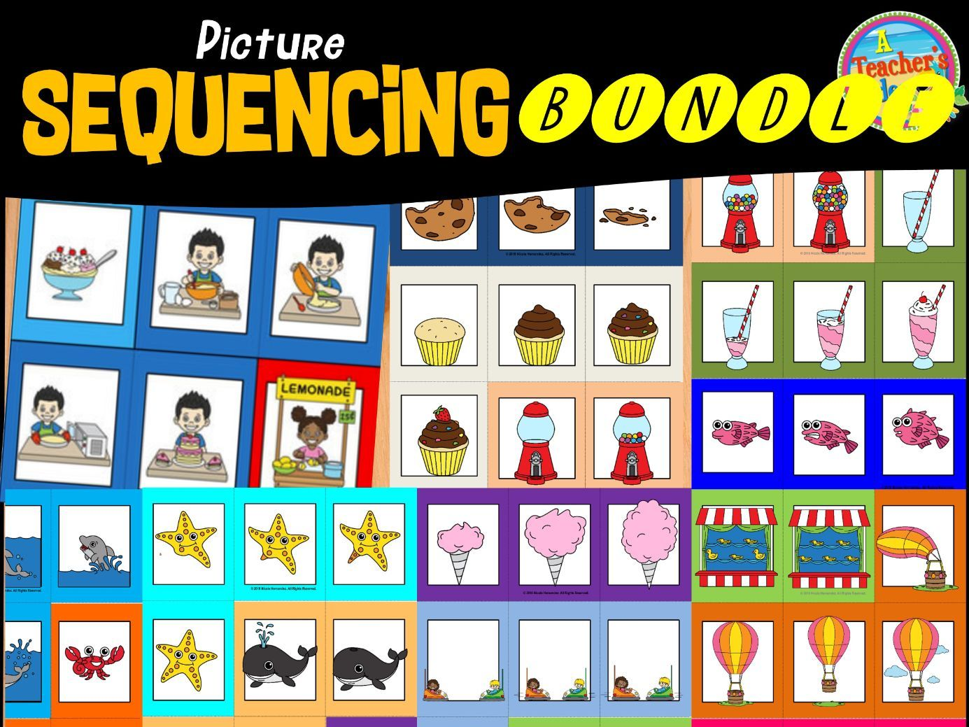Sequencing Cards And Worksheets Bundle