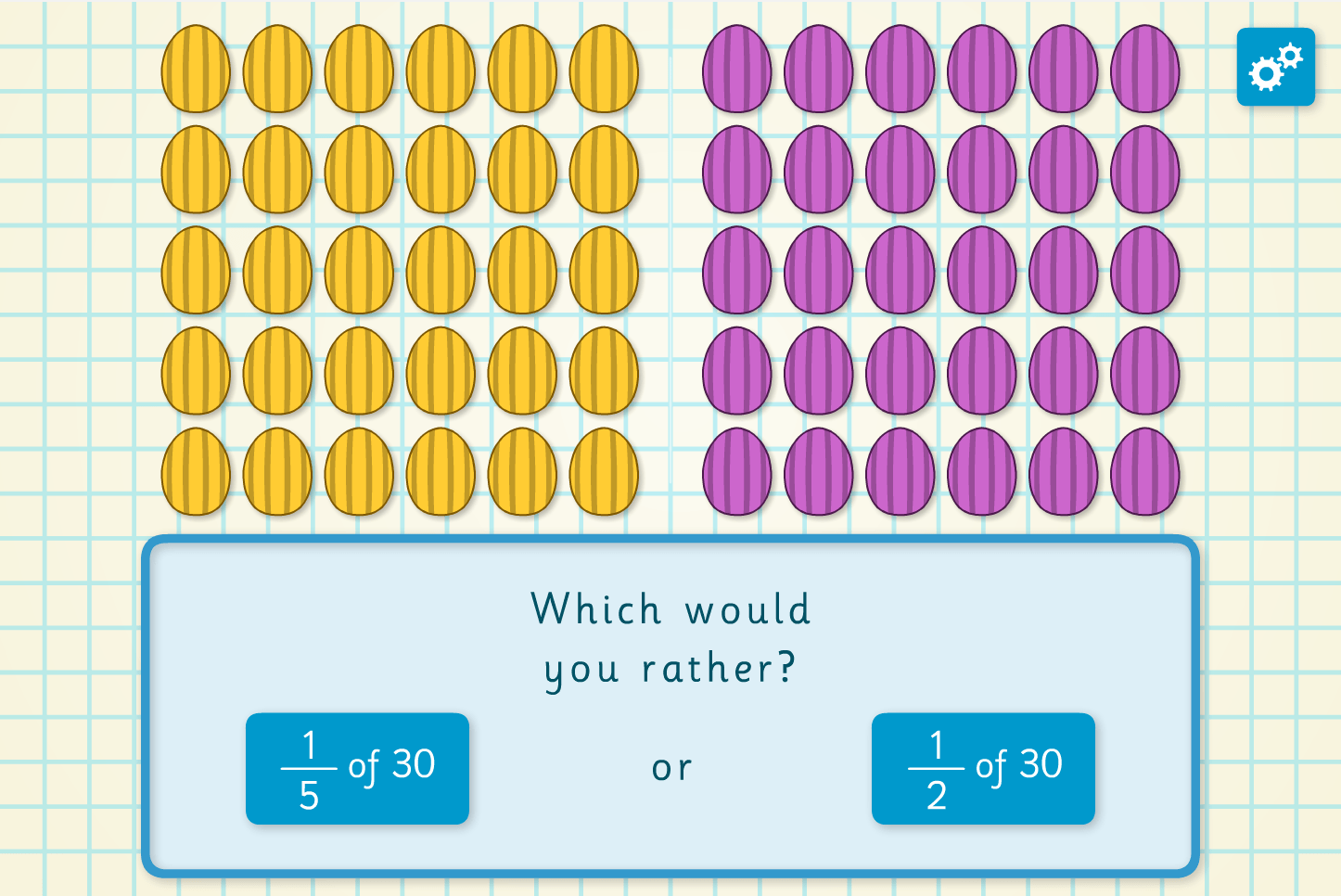 Equivalent Fractions Easter Egg Interactive Activity