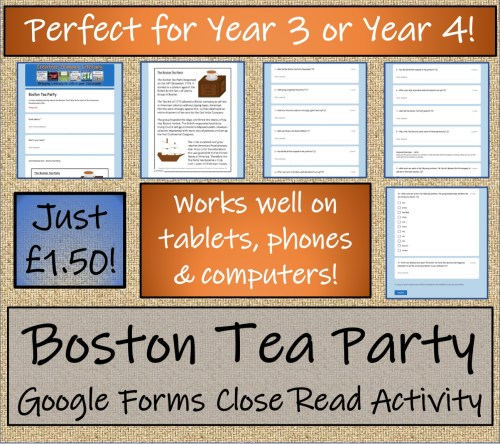 small resolution of LKS2 Boston Tea Party Informational Writing \u0026 Reading Comprehension  Distance Learning Bundle   Teaching Resources