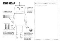 Robot Tone Worksheet by sallyjanepearce22
