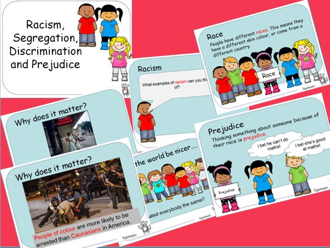 Racism Discrimination Prejudice And Segregation PPT By Tigerlearn