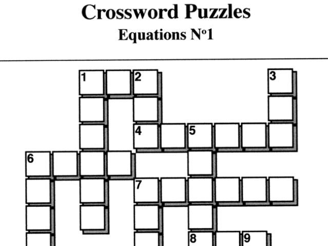 Equations No1 (Crossword Puzzles) by mistercorzi1