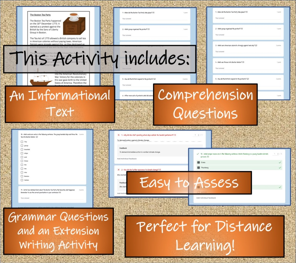 medium resolution of LKS2 Boston Tea Party Informational Writing \u0026 Reading Comprehension  Distance Learning Bundle   Teaching Resources