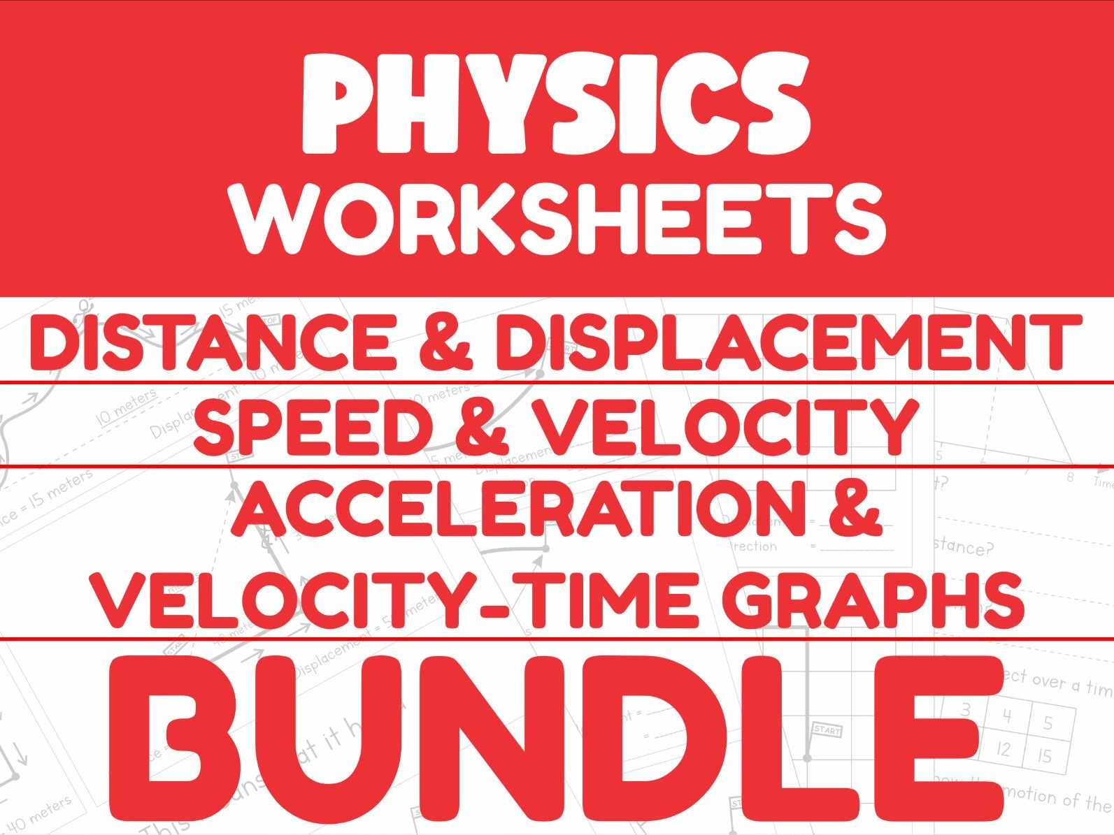 Physics Motion Worksheet Bundle