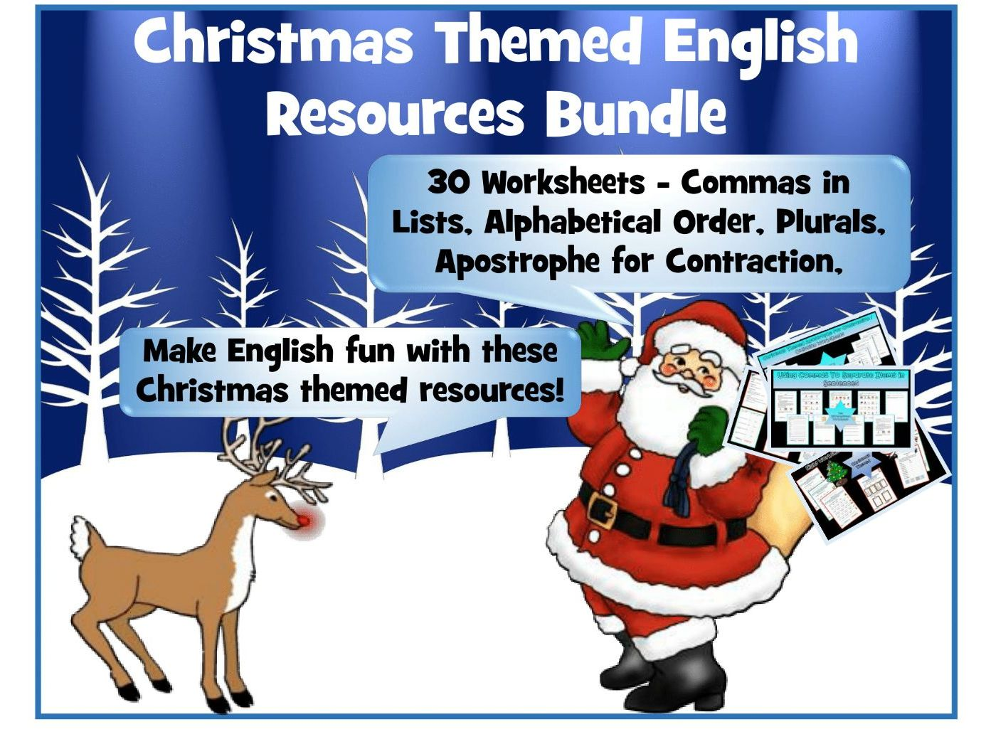 Christmas English Bundle By Krazikas