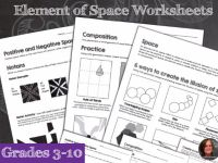 Elements of Art Worksheets - Space & Composition & Mini ...