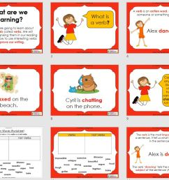 Verbs - Action Words (PowerPoint and worksheets)   Teaching Resources [ 828 x 1725 Pixel ]