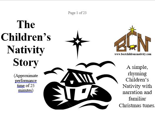 Rhyming Children's Nativity & Christmas Story Poem by