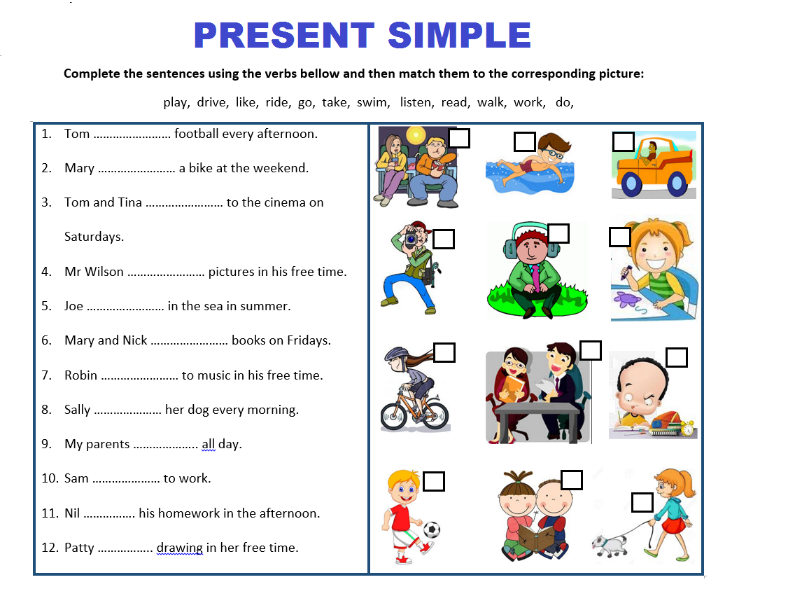 Present Simple Tense Worksheets Bundle
